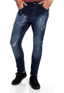 Calça John John Mc Rock Palma Jeans Azul Masculina (Jeans Medio, 42)