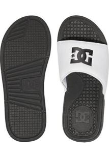 Chinelo Dc Shoes Slider Bolsa - Masculino-Branco