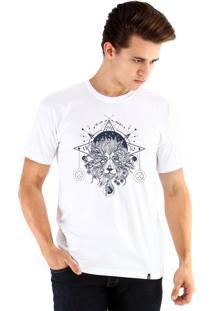 Camiseta Ouroboros Leão Mystico Branco