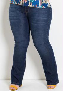 Calça Flare Jeans Plus Size Marguerite