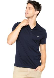 Camisa Polo Lacoste Regular Fit Logo Azul-Marinho