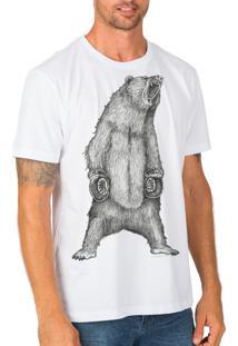 Camiseta Urza Urso Branca