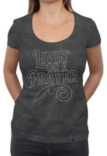 Livin On A Prayer - Camiseta Clássica Premium Feminina