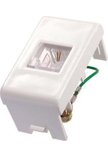 Módulo Para Telefone Rj11 2 Fios Branco Decor Prime Schneider