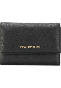 Dolce & Gabbana Carteira Com Placa De Logo - Preto
