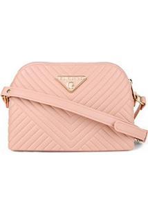Bolsa Giulia Bardô Mini Bag Transversal Matelassê Feminina - Feminino-Bege