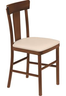 Cadeira Viena Tramontina 14040131 Adele Amêndoa Estofado Bege