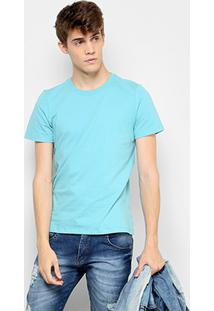 Camiseta Drezz Up Básica Masculina - Masculino-Verde Água