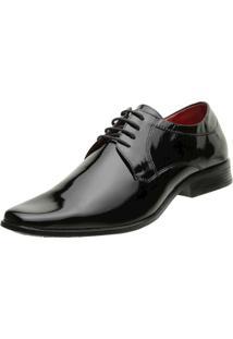Sapato Social Dudu Dias 10 Sintetico Businessy Masculino - Masculino-Preto