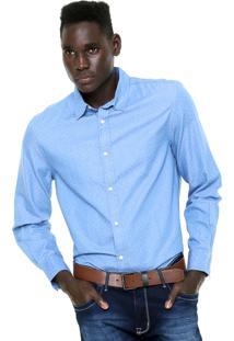 Camisa Hering Regular Estampada Azul