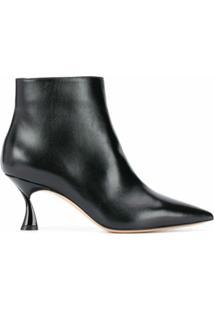 Casadei Ankle Boot Bico Fino Com Salto Kitten - Preto