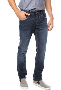 Calça Jeans Tommy Hilfiger Reta Hudson Azul