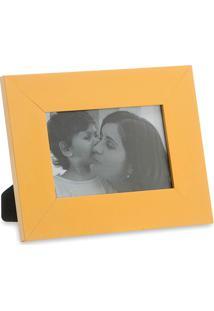 Porta Retrato Em Madeira Monte Carlo 10X15Cm Amarelo