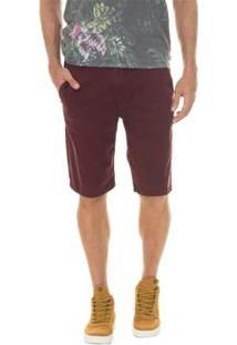 Bermuda Timberland Chino Squam Lake Stretch Masculina - Masculino-Bordô