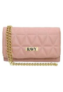 Bolsa Clutch Ravy Store Pequena Metalassê Rosa