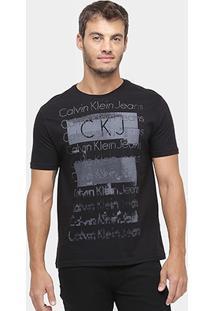 Camiseta Calvin Klein Gola Careca Ckj Print - Masculino
