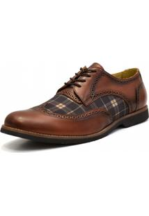 Sapato Social Shoes Grand Oxford Marrom