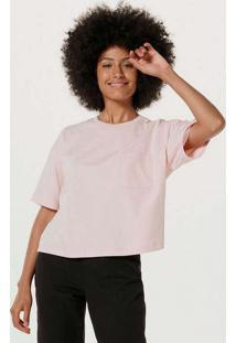 Blusa Básica Feminina Modelagem Box Em Algodão Ro
