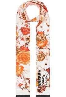 Burberry Echarpe Com Estampa Floral - Estampado