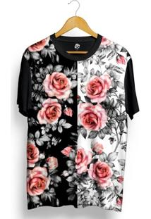 Camiseta Bsc Dark N Sure Flowers Full Print - Masculino