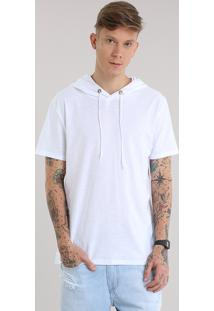 Camiseta Com Capuz Branca