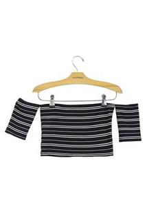 Blusa Lucy In The Sky Cropped Preto
