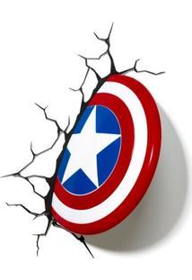 Luminária 3D Ligh Fx Escudo Capitão America - Marvel