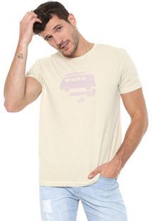 Camiseta Richards Silkada Vacation Bege