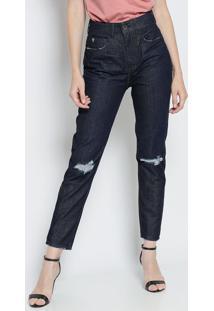 15d9ba2ca ... Jeans Skinny Destroyed- Azul Escuro- Colccicolcci