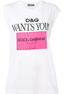 Dolce & Gabbana Regata Com Estampa De Logo - Branco