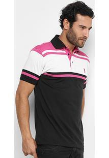 Camisa Polo Aleatory Malha Fio Tinto Masculina - Masculino