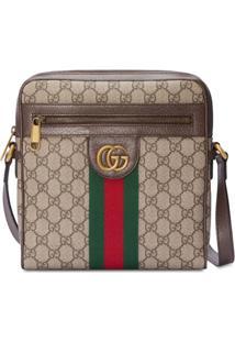 Gucci Messenger Bag Ophidia Gg Pequena - Marrom