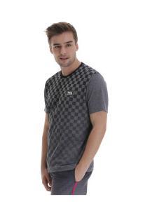 Camiseta Fatal Especial 22204 - Masculina - Cinza Escuro/Preto