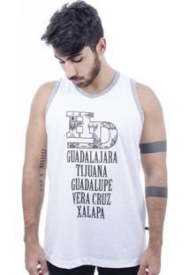 Camiseta Hardivision Xalapa Sem Manga - Masculino-Branco