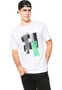 Camiseta Volcom Pixel Fade Branca
