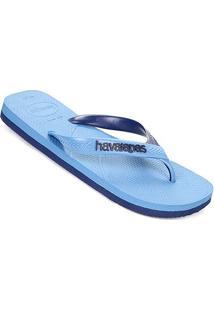 Sandália Havaianas Casual Masculina - Masculino-Azul+Branco
