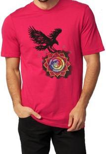 Camiseta Milá Águia Casual - Masculino-Vermelho