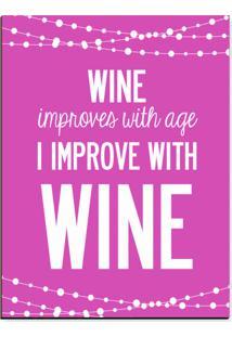 Quadro Adoraria Placa Mdf Wine Rosa
