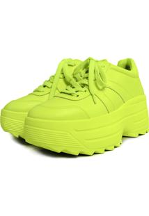 Tênis Chunky Sneaker Donna Damannu Shoes Verde Neon