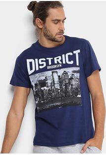 Camiseta Burn Brooklyn District Masculina - Masculino-Marinho