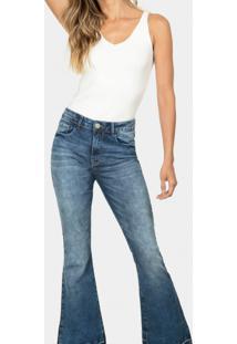 Calça Flare Cropped Malibu Elastic Jeans - Lez A Lez