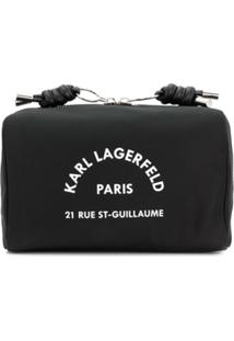 Karl Lagerfeld Necessaire Com Estampa Address - Preto