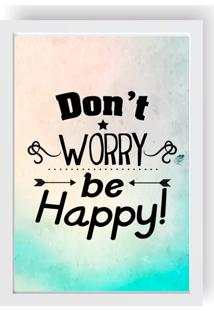 Quadro Love Decor Decorativo Com Be Happy