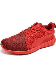 Tênis Puma Carson Runner Knit Eea Bdp Vermelho