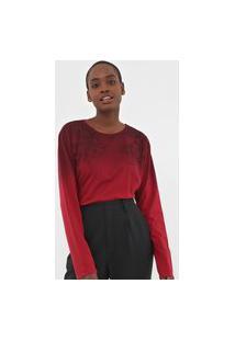 Camiseta Calvin Klein Jeans Galhos Vermelha