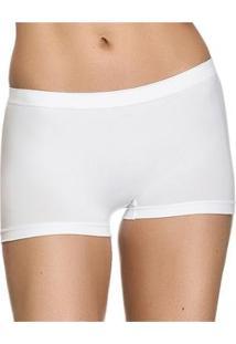 Calcinha Zee Rucci Zee Rucci Boxer - Feminino-Branco