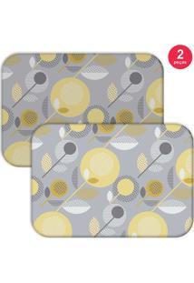 Jogo Americano Love Decor Basic Element Cinza/Amarelo