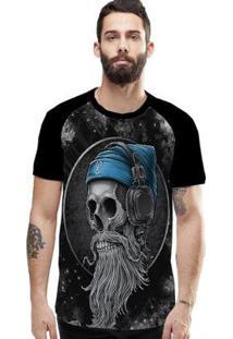 Camiseta Stompy Raglan Modelo 122 Masculina - Masculino-Preto