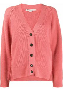 Stella Mccartney Cardigan Gola V - Rosa