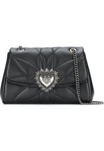 Dolce & Gabbana Bolsa Tiracolo Devotion Grande - Preto